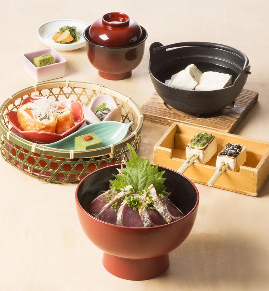 【期間限定】鰹たたき丼と日光ゆば包み揚げ御膳